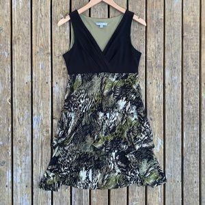 Sandra Darren Tiered Animal Print Dress, Size 6